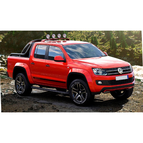 Amarok Double Cab Hiline (2010 to present); 2 fronts with airbags, 60/40 rear bench (solid backrest)