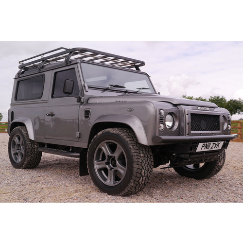 Hannibal Defender 90 Roof Rack (includes rear ladder & chassis step)